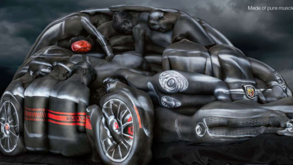 Fiat Werbung Body Paint