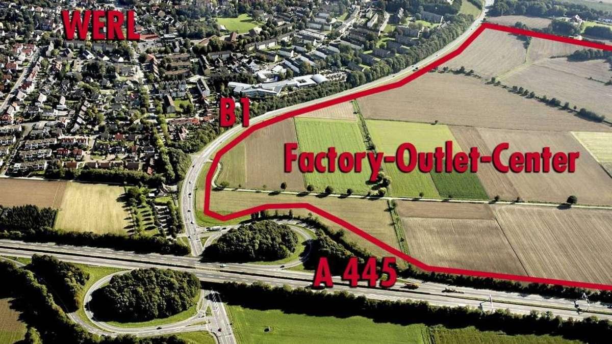 """der Gemeinde zum """"FactoryOutletCenter"""" (FOC) in Werl  Welver"""