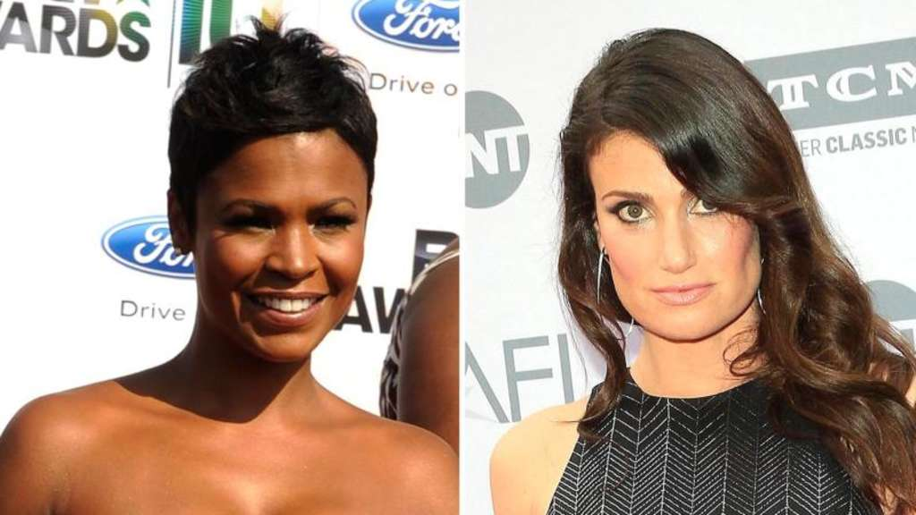 Nia Long (l.) und Idina Menzel drehen gemeinsam. Fotos: Mike Nelson/Nina Prommer Foto: Mike Nelson/Nina Prommer