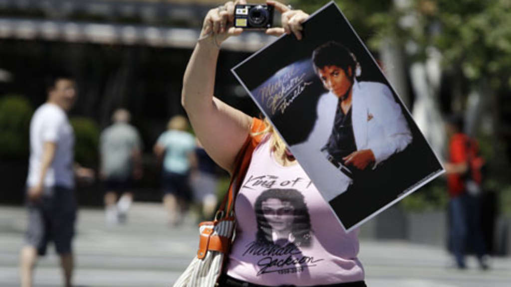 Michael-Jackson-Fan vor dem Staples Center in Los Angeles.