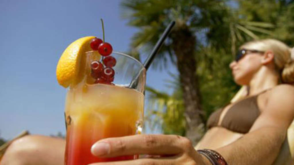 Cocktail Sommer Sonne Reise