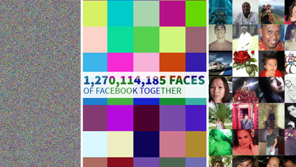 "Die Website ""The faces of Facebook"" zeigt 1,27 Profilbilder aller Facebook-Nutzer weltweit."