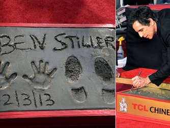 Ben Stiller verewigt sich am Hollywood Boulevard