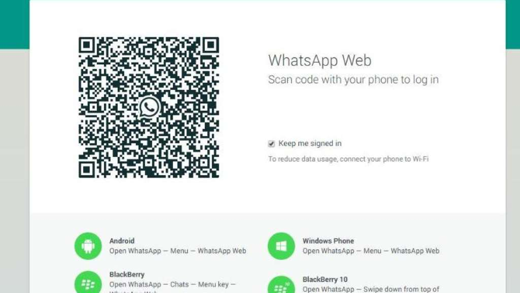 WhatsApp-Nutzer können nun auch im Browswer chatten. Allerdings läuft die PC-Version nur in Google Chrome. Foto: Screenshot