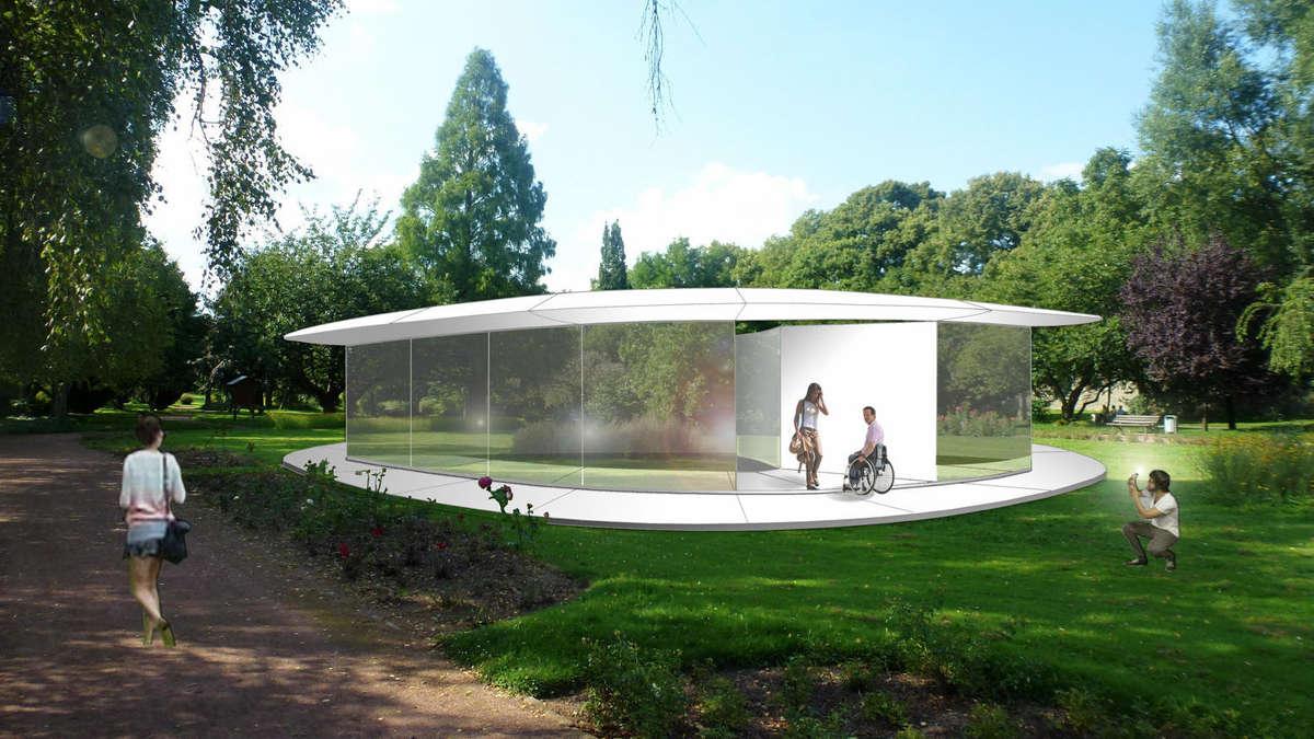 soester architekt legt entwurf f r caf im rosengarten vor. Black Bedroom Furniture Sets. Home Design Ideas