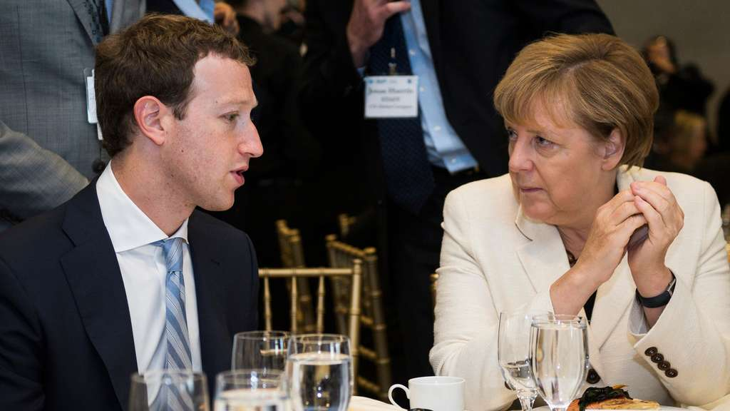 Mark Zuckerberg Angela Merkel