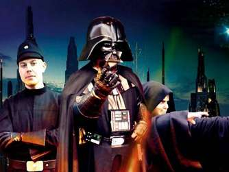 Star Wars: Darth Vader und Sturmtruppler im Kurort