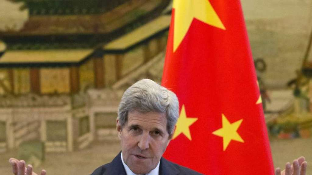 Kerry trifft auch Chinas Staats- und Parteichef Xi Jinping. Foto: NG Han Guan