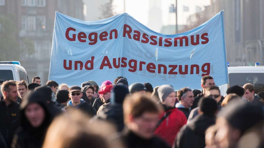 Demonstration der AfD in Hamburg