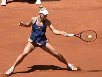 Kerber beim Tennis-Turnier in Madrid im Achtelfinale