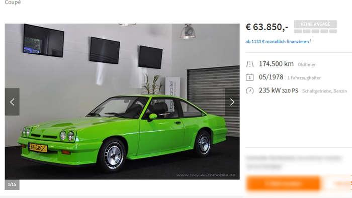 Wer hat Interesse? Opel Manta aus New Kids wird verkauft