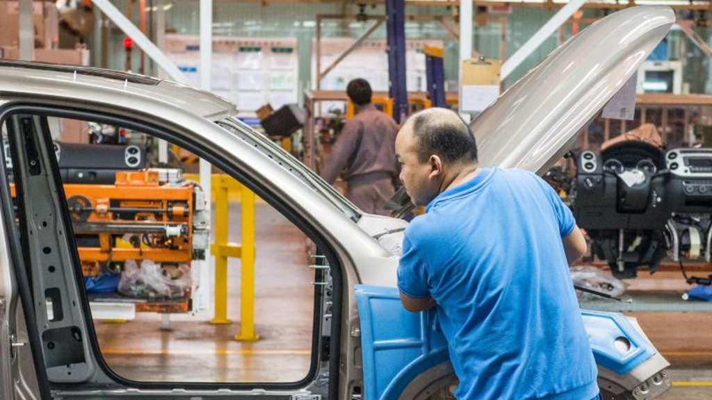 VW-Produktion in China. Foto: Ole Spata