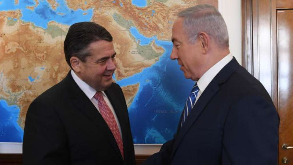 Sigmar Gabriel (l) trifft Benjamin Netanjahu in Jerusalem. Foto: Kobi Gideon/Israeli Government's Press Office