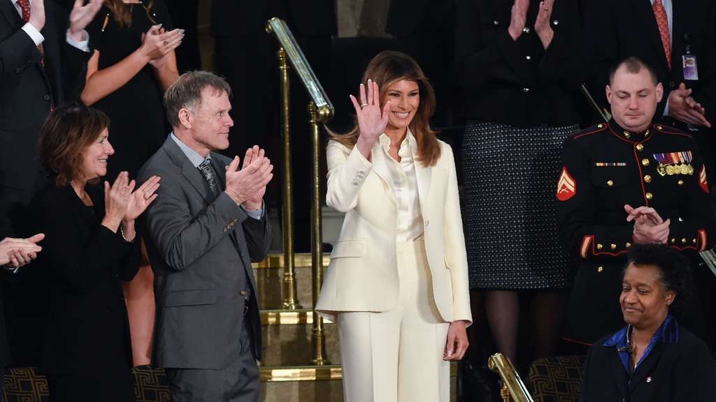 "Melania Trump bei der ""State of the Union""."