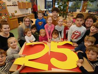 Sogar der Körbecker Karnevalsprinz ging in Entenhausen in den Kindergarten