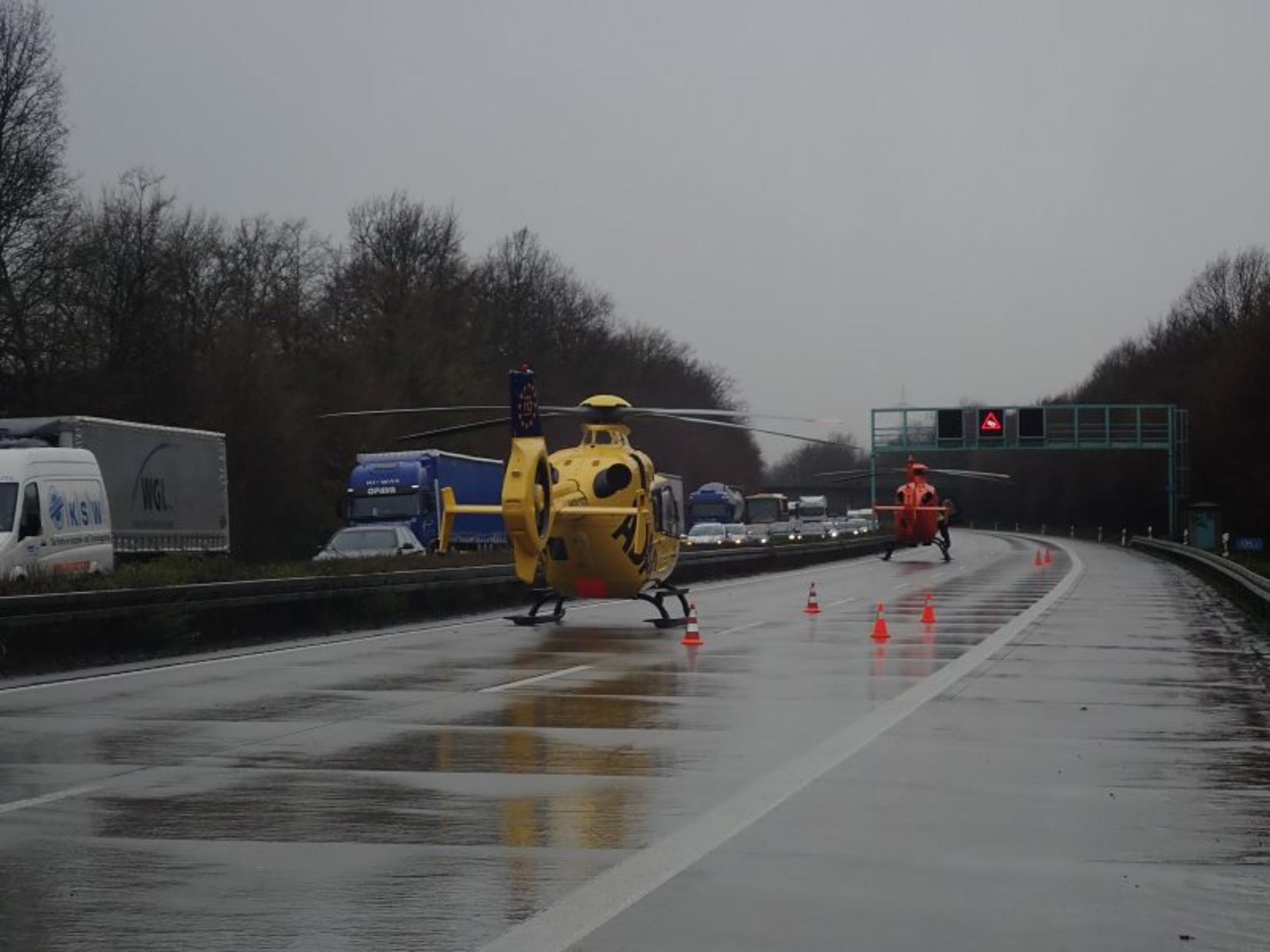 Lkw-Unfall auf der A44