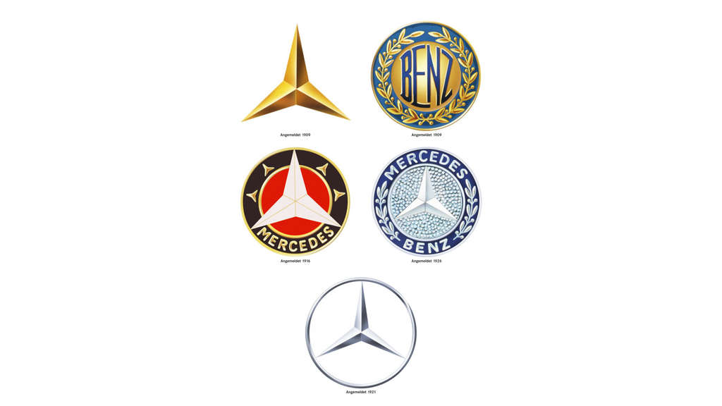 Die Evolution des Mercedes-Sterns.