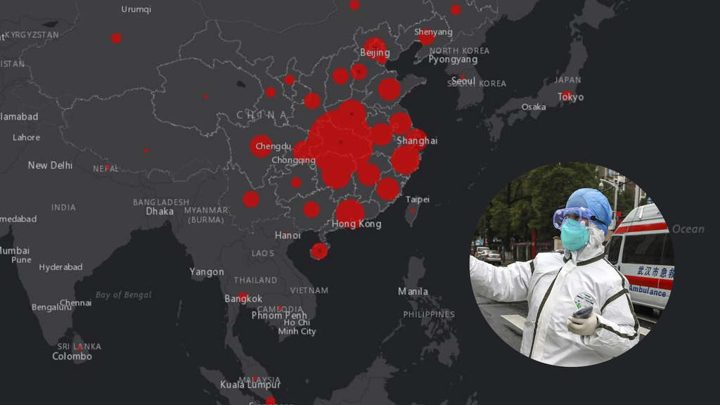 coronavirus echtzeit karte weltweit