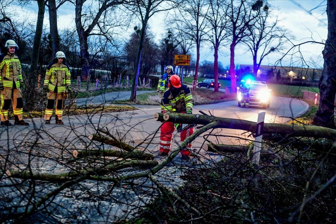 Sturmschäden in Werl