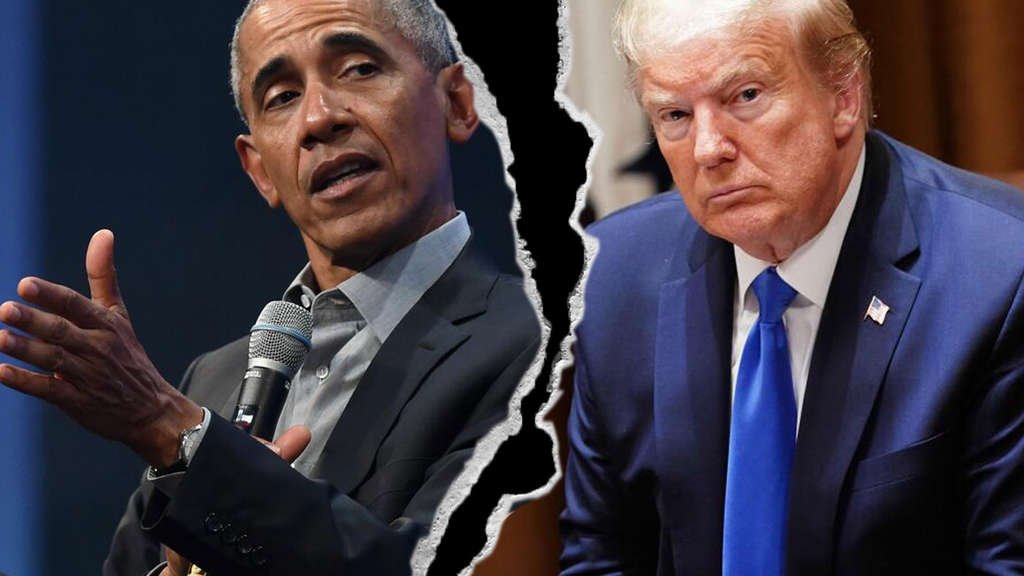 Barack Obama (l.) kritisiert das Corona-Krisenmanagement von Donald Trump. (Collage)