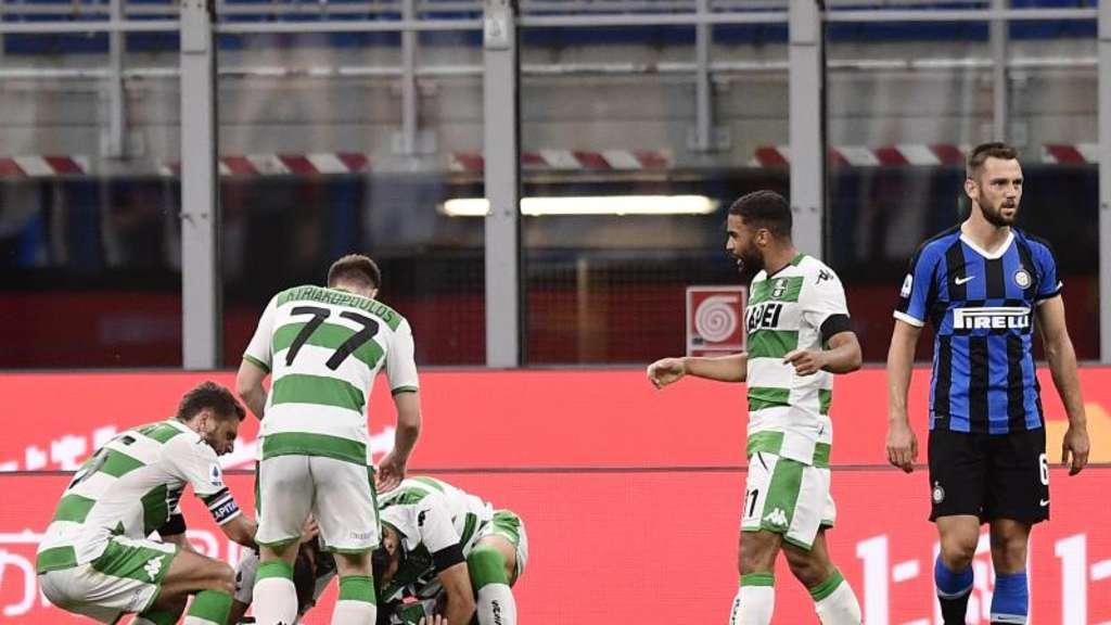 Inter Mailand Verschenkt Heimsieg Gegen Sassuolo Fussball