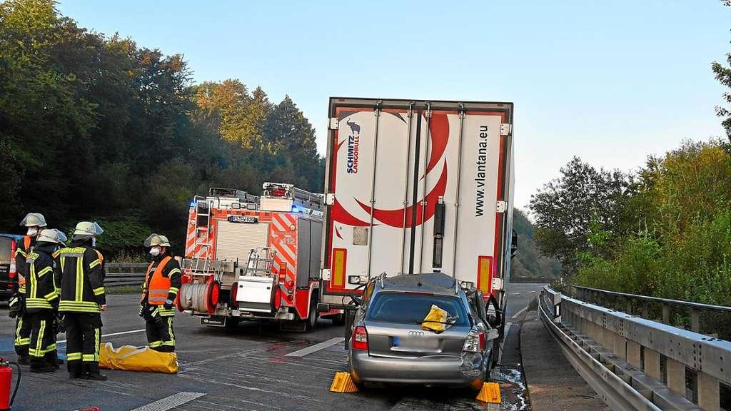 Unfall A1 Remscheid
