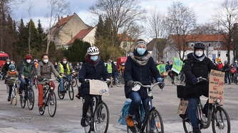 Fahrrad Demo Fridays for Future