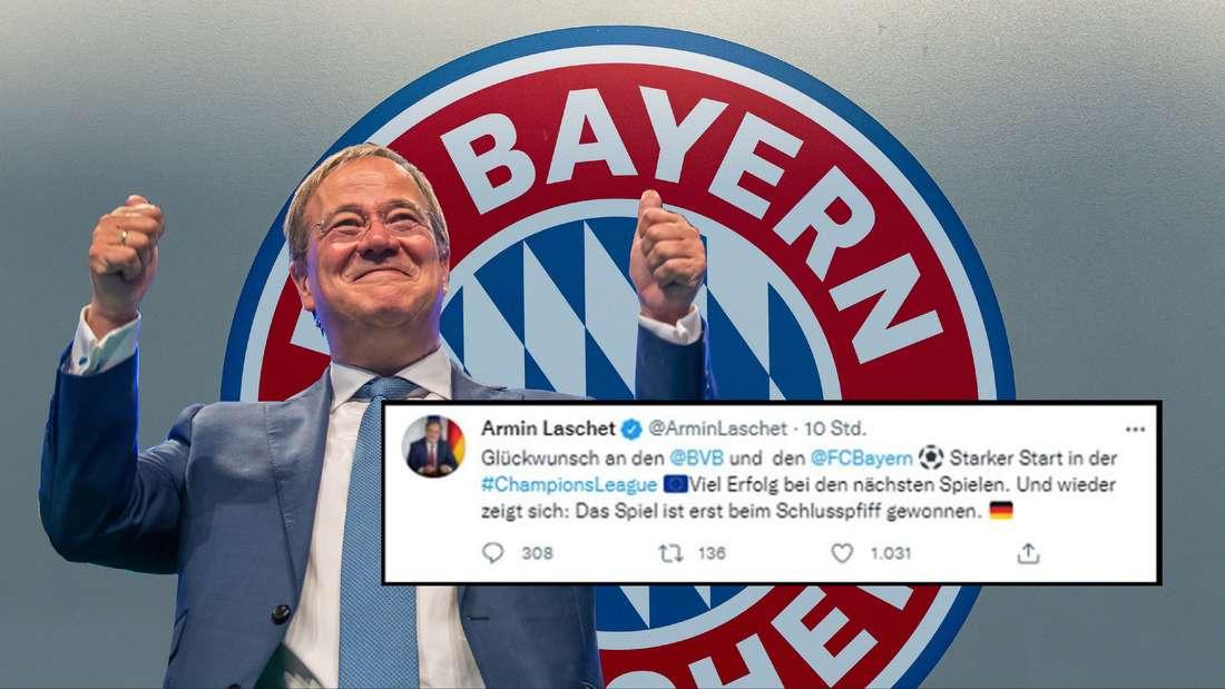 CDU-Chef Armin Laschet. Der Kanzlerkandidat twitterte über den FC Bayern.
