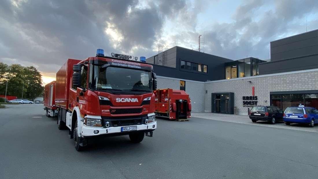 Die Feuerwehr Lippetal war mit einem Strom-Anhänger im Einsatz.
